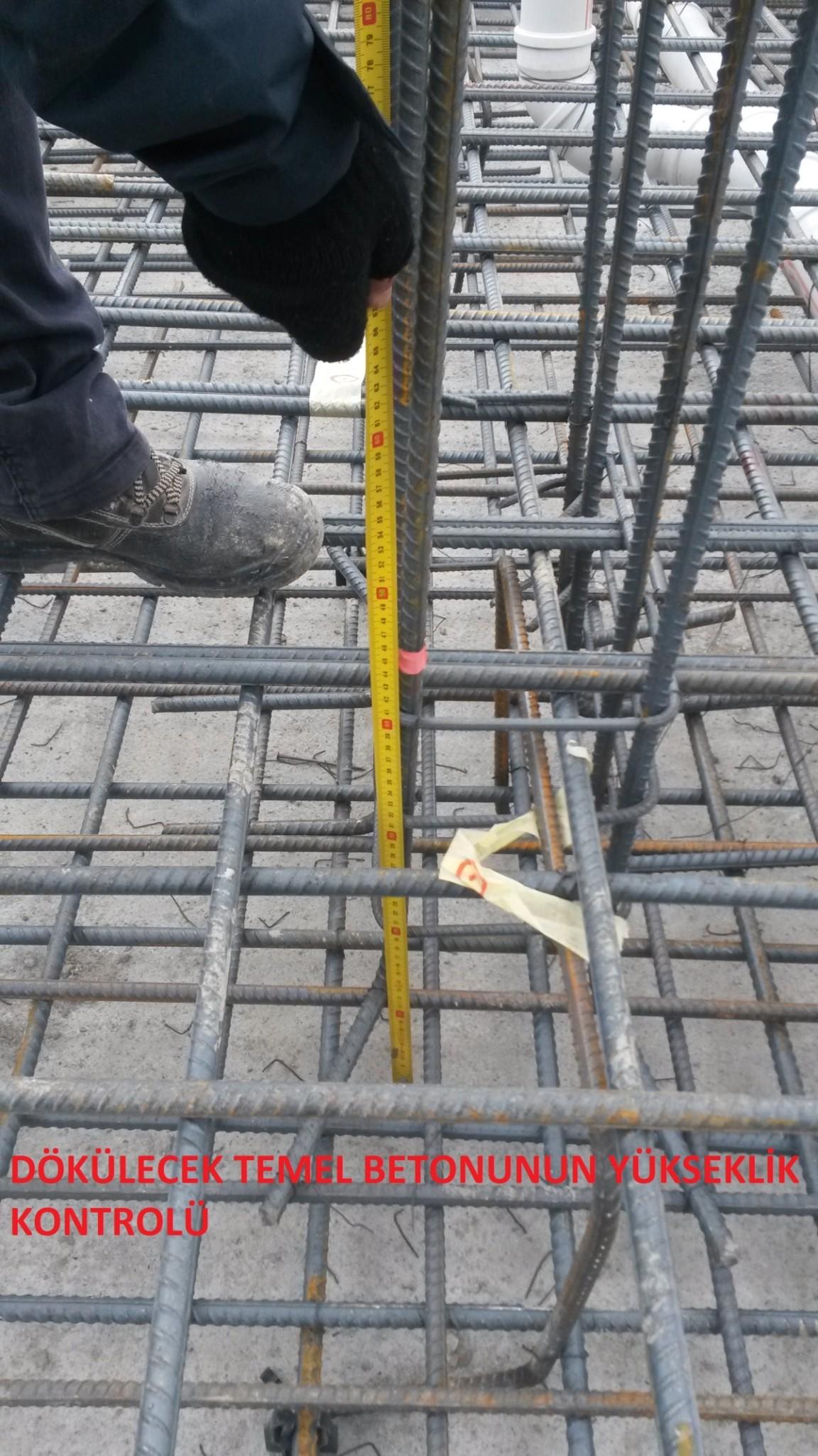 dokulecek-temel-betonunun-yukseklik-kontrolu