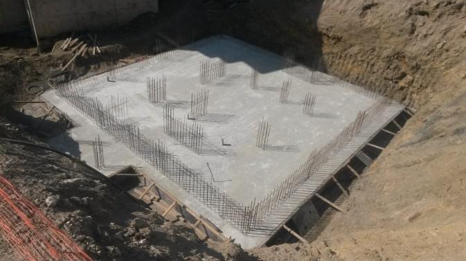 kirişsiz radye temel betonu