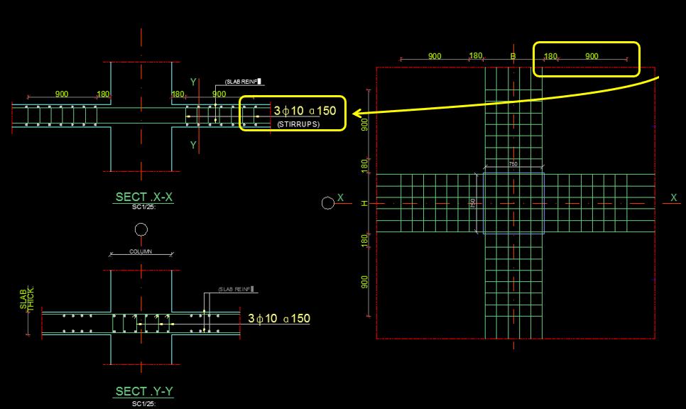 zımbalama donatısı detayı - statik proje